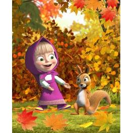 """Полотенце махровое """"Маша и Медведь"""" - """"Осень"""" 50*90"""