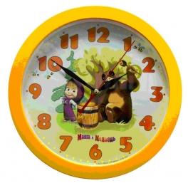 "Часы настенные ""Маша и Медведь"" - ""Бочка мёда"""