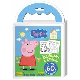 Набор мелков «Свинка Пеппа» с раскрасками