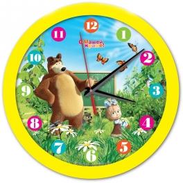"""Часы настенные """"Маша и Медведь"""" - """"Школа"""""""