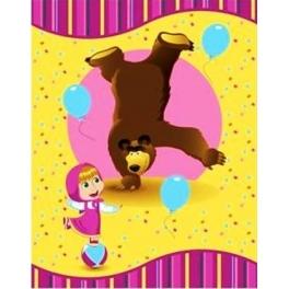 """Полотенце махровое """"Маша и Медведь"""" - """"Акробаты"""" 110*140"""