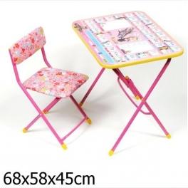 """Набор детской мебели """"Маша и Медведь"""" - """"Азбука"""" Розовый"""