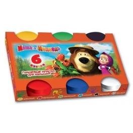 Краски гуашевые для малышей «Маша и Медведь» - 6 цветов