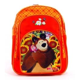 """Рюкзак """"Маша и Медведь"""" - """"Подсолнухи"""" Оранжевый, облегченный"""