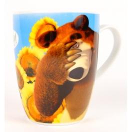 """Кружка """"Маша и Медведь"""" - """"Хочу! Хочу! Хочу!""""  в подарочной упаковке"""